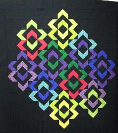 Modern Quilting, Quilting Ideas, Quilting Projects, 3d Quilts, Mini Quilts, Half Square Triangle Quilts, Square Quilt, Pattern Blocks, Quilt Patterns