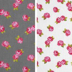 Minirose-Baumwollwebstoff mit kleinen Rosen von Aktivstoffe #Dessins #Kinderstoffe #Stoffe #Nähen #DIY #Motive #Aktivstoffe #Shabby