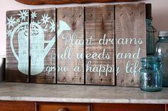 Hand Painted Repurposed Wood Sign