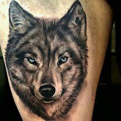 wolf tribal hier ist ein wolf tattoo ein wolf mit schönen blauen augen