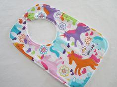 Unicorn Baby Bib by SaritaBaby on Etsy, $10.00