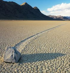 Here's a cool mystery - how do these rocks move? The Sliding Rocks of Racetrack Playa from GEOLOGY.COM