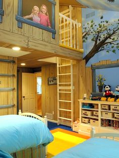 What child doesn't want a tree house? Why not bring the tree house inside? Your kids will love this tree house bedroom!