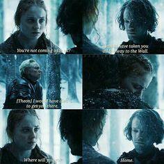 Theon and sansa in season 6
