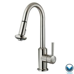 VIGO 360 Degree Swivel Stainless Steel Pull-Out Spray Kitchen Faucet.  Retractable spout