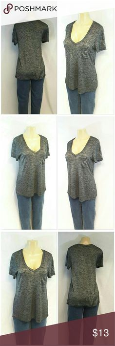 """FOREVER 21 Deep V-neck Slub Style Top size Large FOREVER 21, Deep V-neck, Slub Style Material Top, size Large See Measurements, chest pocket, soft thin material, machine washable, polyester blend, 27"""" length shoulder to hem, 20"""" bust laying flat, 8"""" sleeves, 16"""" shoulder seam to shoulder seam. ADD TO A BUNDLE! 20% BUNDLE DISCOUNT Forever 21 Tops"""