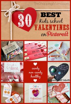 30 Best Kids Classroom Valentine Ideas on Pinterest, including candy, healthy snacks and non-candy Valentines