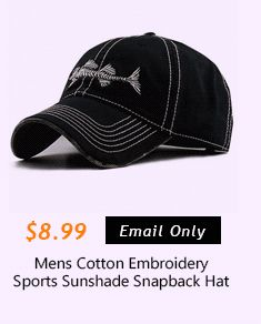 Mens Cotton Embroidery Sports Sunshade Snapback Hat