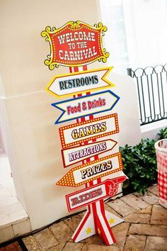 Mickey Mouse Under the Big Top Birthday Party with TONS of CUTE Ideas via Kara's Party Ideas Kara'sPartyIdeas.com #MickeyMouse #Circus #Carn...