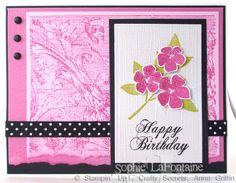 Best Blossoms birthday by SophieLaFontaine - Cards and Paper Crafts at Splitcoaststampers