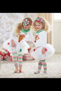 Buy Princes Baby Girls Sets Kids Christmas Deer Shirt + Tutu Dress Stripe Legging Outfits at Wish - Shopping Made Fun Legging Outfits, Striped Leggings Outfit, Leggings Are Not Pants, Stripe Pants, Ruffle Pants, Stripe Skirt, Baby Girls, Baby Girl Tops, Kids Girls