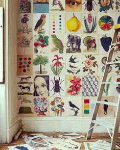 Patchwork Wall Design Ideas DIY Wallpaper Collage is part of - Calling all creatives You'll want to try your hand at this fun wall design idea asap Collage walls are an easy way to personalize your space—here are some of our favorite spaces doing it right Wallpaper Collage, Diy Wallpaper, Wall Collage, Make Your Own Wallpaper, Future Wallpaper, Diy Tapete, Wall Design, House Design, Decoration Shabby