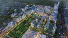 The conceptual vision of the proposed Dallas Midtown project by MIG will be discussed at a town hall meeting next week. Dallas Real Estate, Real Estate News, Texas Mansions, Dallas City, Town Hall Meeting, Parks Department, Valley View, Business Journal, Chamber Of Commerce