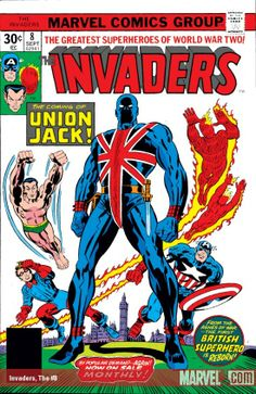 Invaders (1975) #8 Published: September 10, 1976  The life and death of Union Jack! The mysteries of Britain's greatest World War II hero are revealed. But can even the might of Union Jack and the Invaders stop Baron Blood?