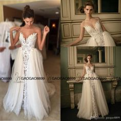 Real Buyer Show Lace Tulle Over Skirt Berta Bridal Beach Mermaid Wedding Dresses 2017 Cheap Sweetheart Full Length Fishtail Wedding Gown Dress Dresses From Gaogao8899, $133.87| Dhgate.Com