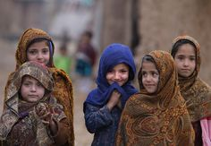 Gives you perspective...They are so beautiful. Photo of Pakistan girls in slums outside of islamaba by Muhammed Muheisen.