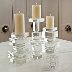 Global Views brilliant pillar candleholder @Zinc_door #zincdoor #candle