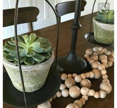 Wood bead garland with tassel. Wood bead by Neutralbydesign
