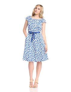 Laurèl Damen A-Linie Kleid, Gepunktet: Amazon.de: Bekleidung