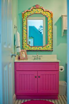 Turquoise Tween Bedroom - Canton, Ga - Eclectic - Kids - atlanta - by Ashley Taylor Home LLC Interior Design Trends, Bathroom Vanity Storage, Bathroom Kids, Colorful Bathroom, Bathroom Colors, Little Girl Rooms, Girls Bedroom, Bedrooms, Bedroom Ideas