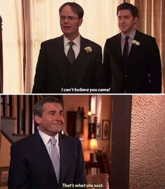 """When Jim tells Dwight he can't be his bestest mensch. 23 Of The Best Pranks Jim Pulled On Dwight In """"The Office"""" Best Of The Office, The Office Show, Office Tv, The Office Dwight, Cool Stuff, Funny Stuff, Funny Things, Stupid Funny, Random Things"""
