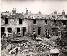 Photograph illustrating some of the damage caused by the German bombing of the North Strand, Dublin Street, Dublin City, Old Pictures, Old Photos, Dublin House, Photo Engraving, Irish Roots, City Council, Dublin Ireland
