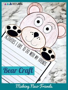 Check out this week's worth of friendship activities while learning about how to make new friends. The bear craft