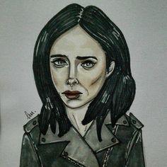 Jessica Jones #portrait #fanart #artwork