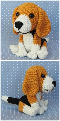 Cutest Collection Of Crochet Dog Patterns Crochet Amigurumi Free Patterns, Crochet Animal Patterns, Crochet Bunny, Stuffed Animal Patterns, Cute Crochet, Crochet Animals, Crochet Crafts, Crochet Dolls, Crochet Projects