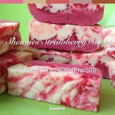 Strawberry Soap by Sheloves Tuna, Watermelon, Projects To Try, Strawberry, Soap, Fish, Fruit, Vegetables, Veggies