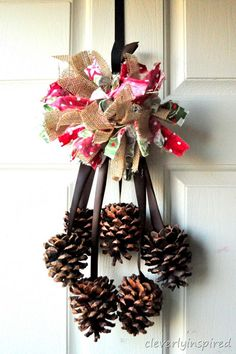 burlap and fabric pompom @cleverlyinspired (2)