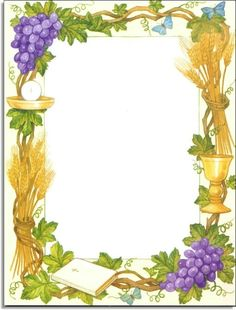 first holy communion borders First Communion Banner, Holy Communion Invitations, Première Communion, First Holy Communion, Borders For Paper, Borders And Frames, Paper Background, Holi, Vines