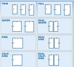 Bed Sizes are Confusing! | Interior Design Major | Pinterest