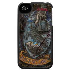 Ravenclaw Crest - Destroyed iPhone 4 Cases