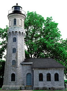 Old Fort Niagara Light, Youngstown, NY by Nori Bucci. Actually I've been here. It's really nice.