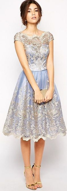 Shop Contrast Fit And Flare Embroidered Mesh Dress online. SheIn offers Contrast Fit And Flare Embroidered Mesh Dress & more to fit your fashionable needs. Pretty Outfits, Pretty Dresses, Beautiful Outfits, Classy Outfits, Evening Dresses, Prom Dresses, Formal Dresses, Dress Prom, Bridesmaid Dresses