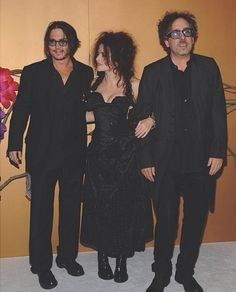 Three of my favorite people: Johnny Depp, Helena Bonham Carter, and Tim Burton
