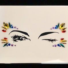 Excited to share the latest addition to my shop: Festival Gems Face Jewels EDC Rave Burning Man Metallic Tattoo Sticker Glitter Shimmer Gemstones Playa Rave Outfits Holographic Coachella Festival Gems, Festival Face Jewels, Edm Festival, Festival Outfits, Festival Clothing, Festival Fashion, Rave Makeup, Metal Tattoo, Raver Girl