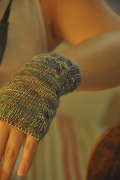 Ravelry: Black River Rapid Fingerless Mitts pattern by Leigh McDonna