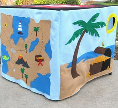 Pirate Adventure Card Table Playhouse, Toy, Personalized, Custom Order. $210.00, via Etsy.