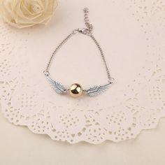 bracelets for women gold bracelets bangles Harry Potter Quidditch Golden Snitch Pocket bracelets for women WJ-02