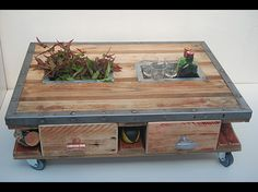 1000 images about rangement on pinterest ranger for Fabriquer table basse en palette