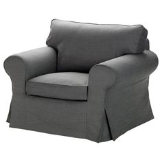 Ikea Ektorp Chair Cover Armchair Slipcover Svanby Gray 501.751.77 Grey Linen #IKEA #Traditional #Ektorp