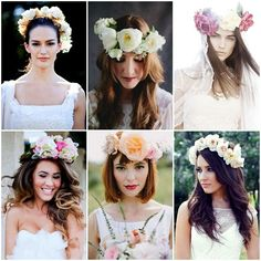 Coronas De Flores Naturales #Novias #Hairstyle #Weedings