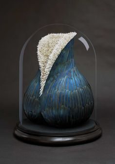 Blue - sculptures made with feathers - Charybdis, 2013, Kate MccGwire