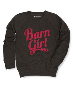 Look at this #zulilyfind! Heather Charcoal 'Barn Girl' Pullover - Girls #zulilyfinds
