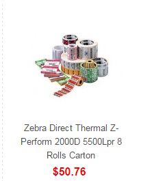 Buy Zebra Direct Thermal Z-Perform 8 Rolls Carton