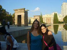 Vanesa y yo en el Templo de Debod