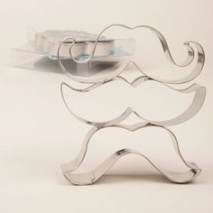 Mustache Cookie Cutters, Movember, Mustache Cookies, Gift for Baker, Stainless Steel, 3 Pack