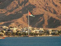 Aqaba, Jordan - an oasis of green in the desert.